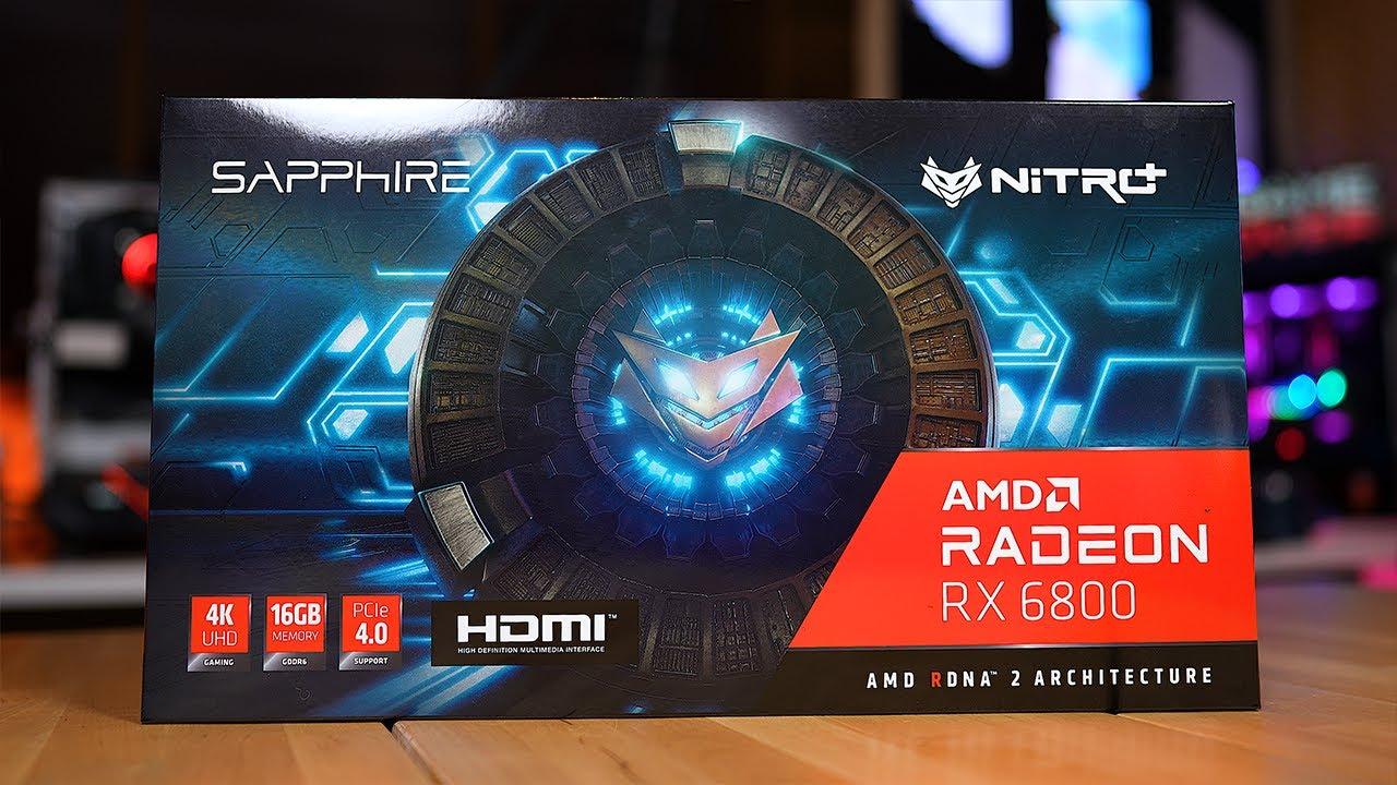 مراجعه قوه كرت Sapphire RX 6800  Nitro+