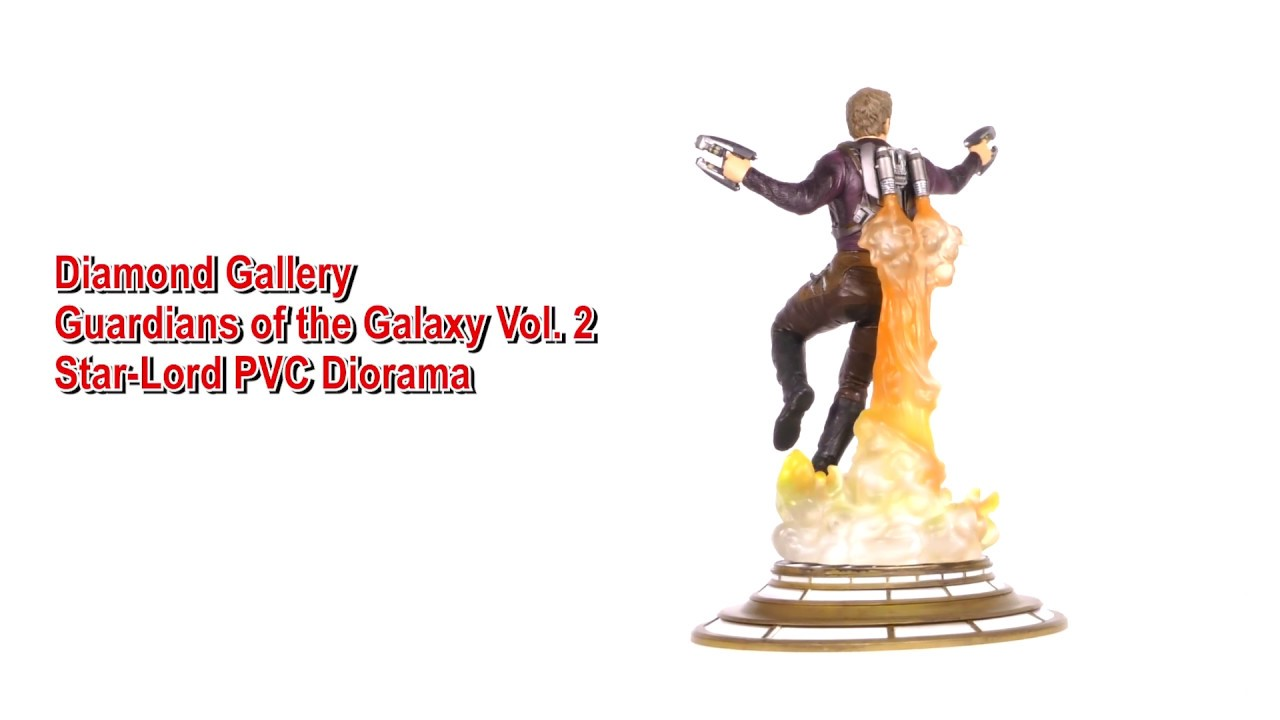 Marvel Movie Gallery Star-Lord Unmasked PVC Diorama Unboxing + 360