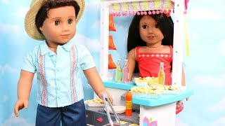 American Girl Doll Snack Stand Unboxing & Review