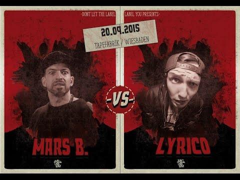 DLTLLY // Rap Battles // Lyrico vs  Mars B.