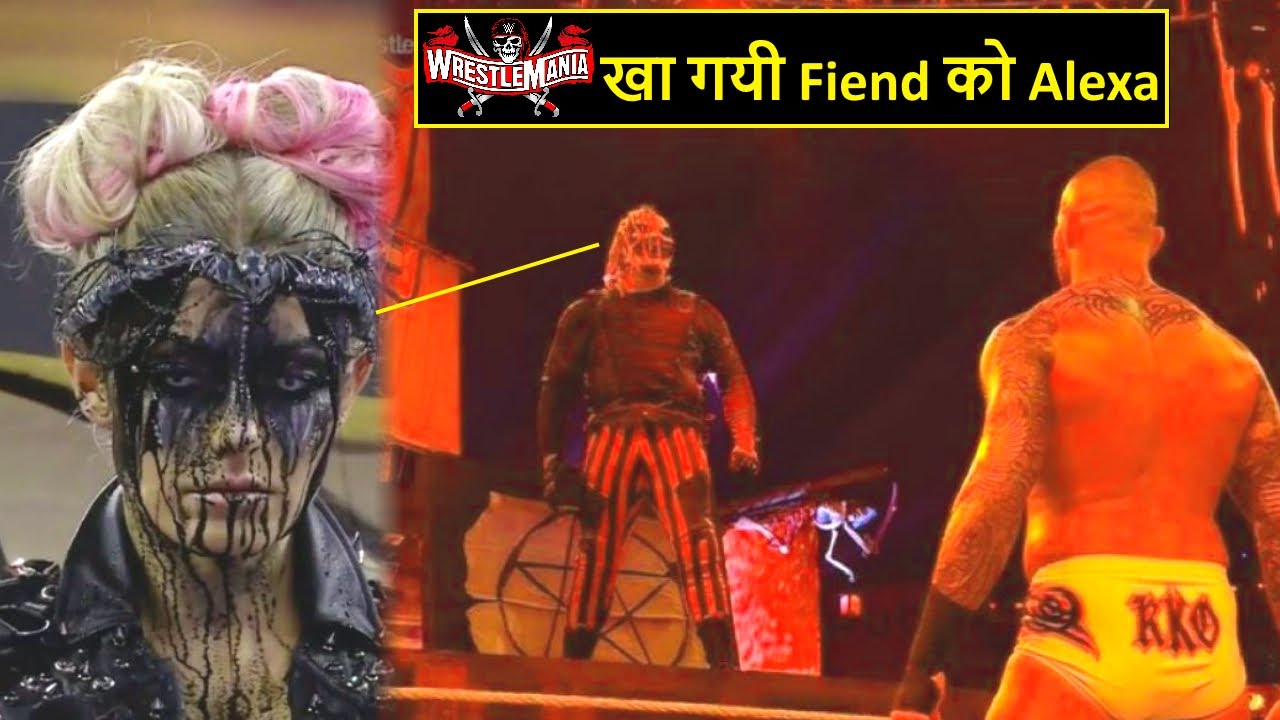 Alexa Bliss Helps Randy Orton Against The Fiend | The Fiend Vs Randy Orton at WWE WrestleMania 37