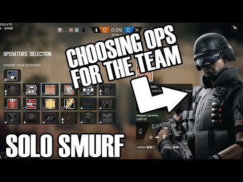 Solo Smurf: Team Player - Rainbow Six Siege