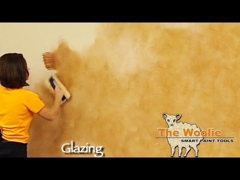 Glazing Color Wash Faux Finish Painting by The Woolie (How To Paint Walls) #FauxPainting
