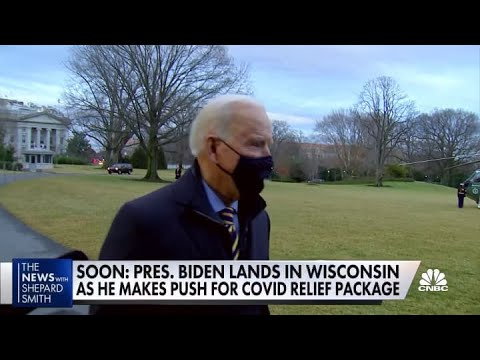 President Joe Biden heads to Wisconsin to push $1.9T Covid relief package