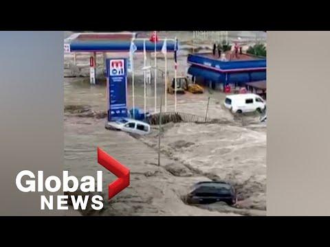 Տեսանյութ.Թուրքիայում ջրհեղեղի հետևանքով առնվազն 17 մարդ է զոհվել, շարունակվում են որոնողափրկարարական աշխատանքները