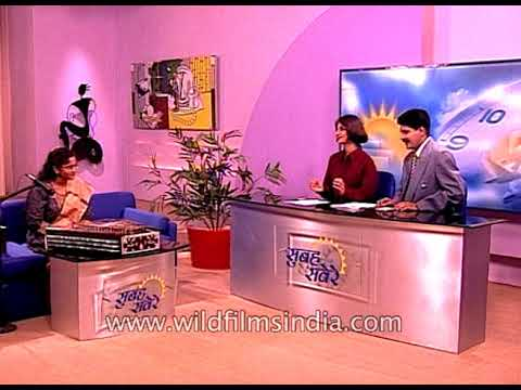 Indian musician Charukeshi Sahani plays Santoor