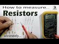 How to measure Resistance with Digital Multimeter / Multimeter tutorial