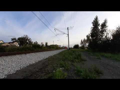 """Электропоезд """"ЭТ2-016"""" Следует по перегону """"Уктус-Шарташ"""""""