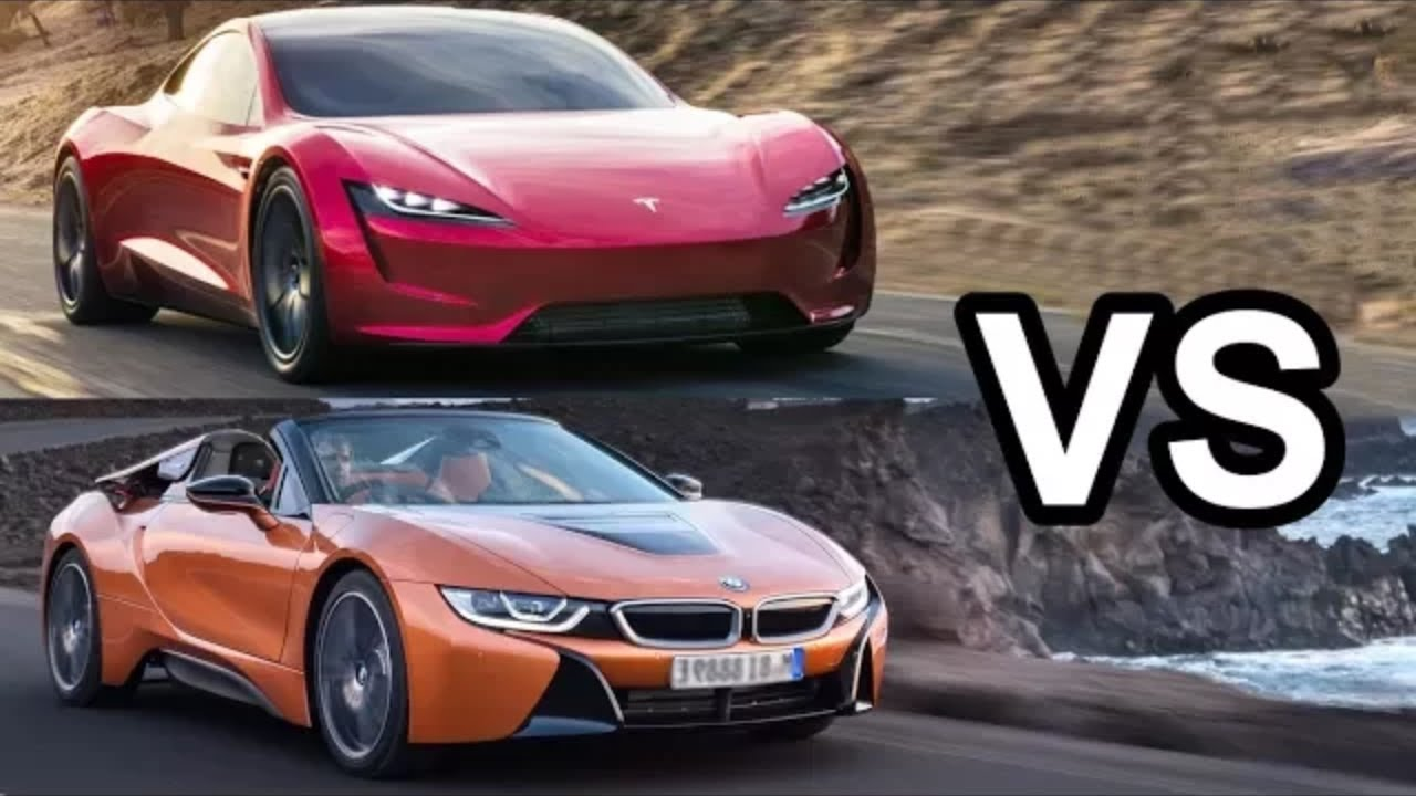 Bmw I8 Vs Tesla Roadster Speciation Like Price Milage Speed