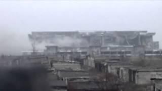 Война видео Украина Донбасс  2015  РЕДКИЕ кадры Момент подрыва Аэропорта нового терминала  Донецк