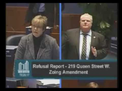 Toronto City Council featuring Mayor Ford vs Councillor Vaughan