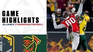 San Antonio Commanders vs. Arizona Hotshots   AAF Week 5 Game Highlights