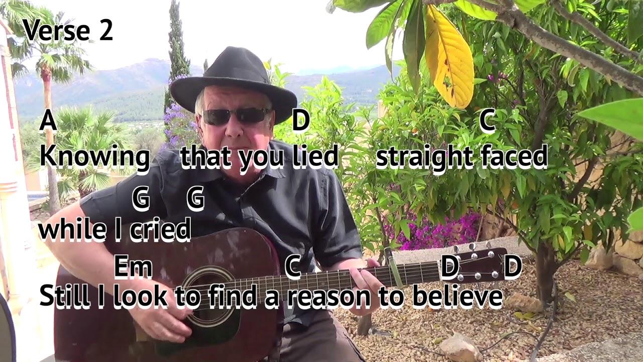 Reason To Believe Tim Hardinrod Stewart Easy Chord Guitar