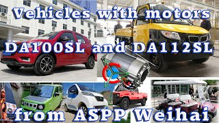 E-Cars and vehicles with engines DA100SL and DA112SL from ASPP Weihai