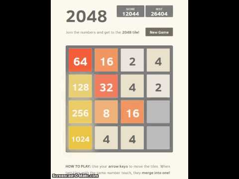 Reaching the 2048 tile