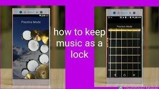 How to keep music as a lock in your Android mobile in Telugu