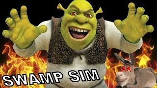 SHREK SE VOLVIO LOCO!!   Swamp Sim - JuegaGerman