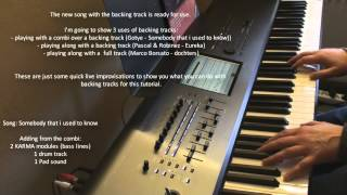 Korg Kronos Tutorial: 06 Using Backing Tracks