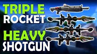 TRIPLE ROCKET & HEAVY SHOTGUN   BLITZ MASSACRE - (Fortnite Battle Royale