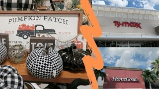Shop With Me For Fall Home Decor | TJ Maxx & HomeGoods
