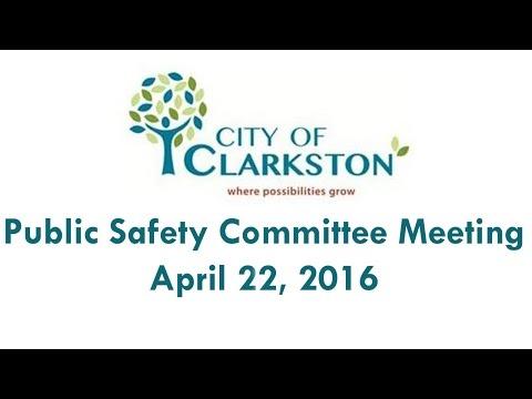 Clarkston GA Public Safety Committee Meeting on $5 Marijuana fine, April 22, 2016