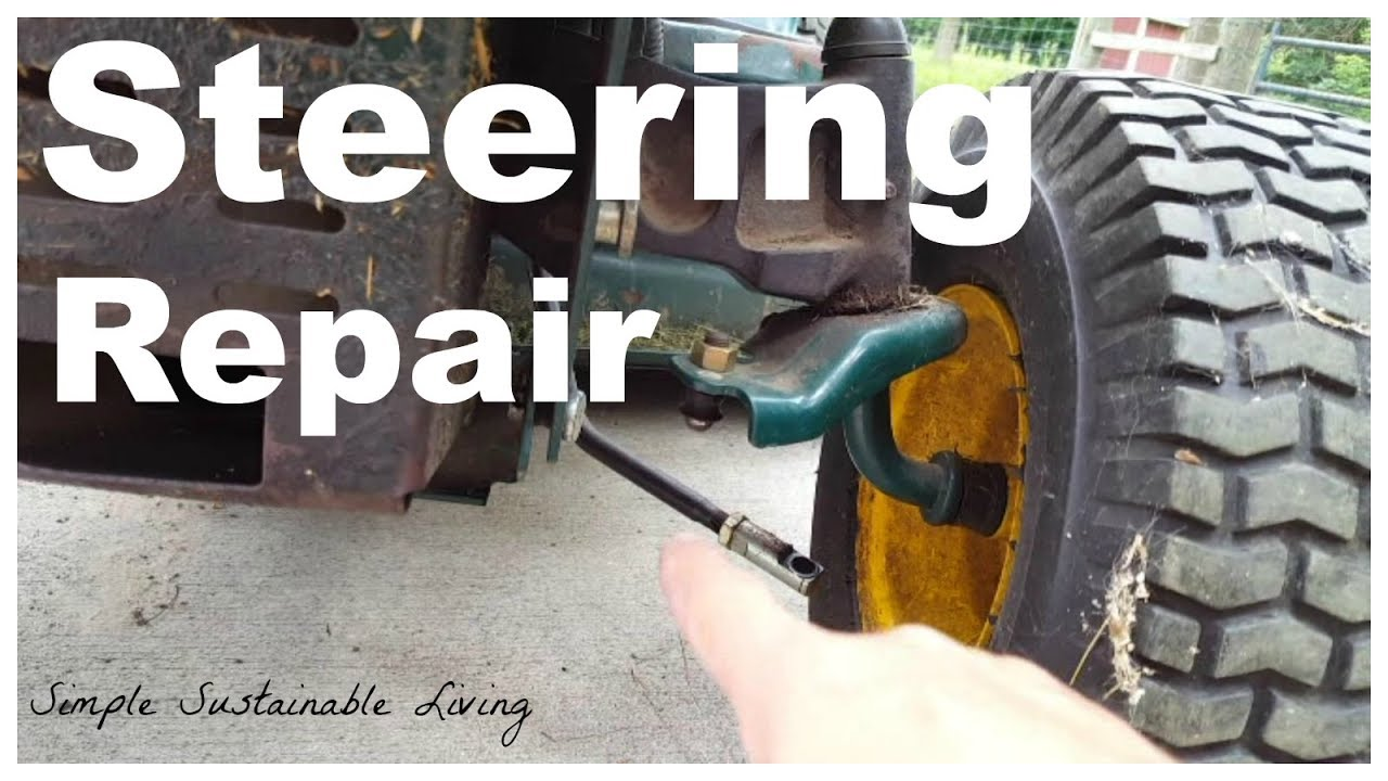 hight resolution of how to fix the steering on a yardman mtd or troybuilt tractor ball joint replacement