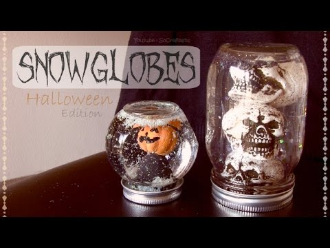 DIY SNOW GLOBES for HALLOWEEN - Home Decor - How To| SoCraftastic