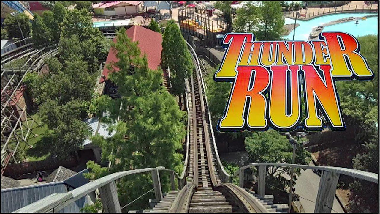 thunder run hd front seat  ride pov review dinn rmc wood coaster kentucky kingdom youtube