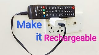 How to make rechargeable remote | DIY Life Hack | DIY Electronic Project | LIFE HACKS WITH BATTERY
