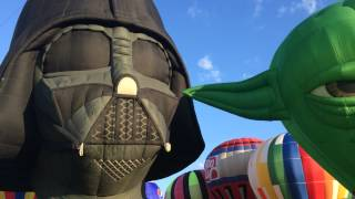 Darth Vader and Yoda at the 2015 QuickChek NJ Festival of Ballooning