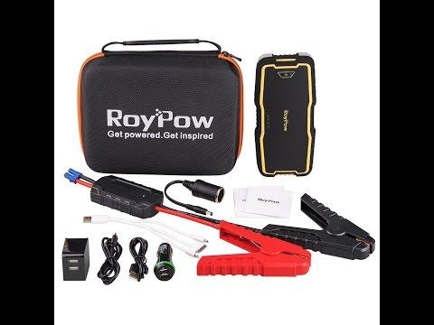 Booster Batterie Portable Jump Starter Démarreur De Voiture RoyPow 18000 MAh IP66 & Batterie Externe