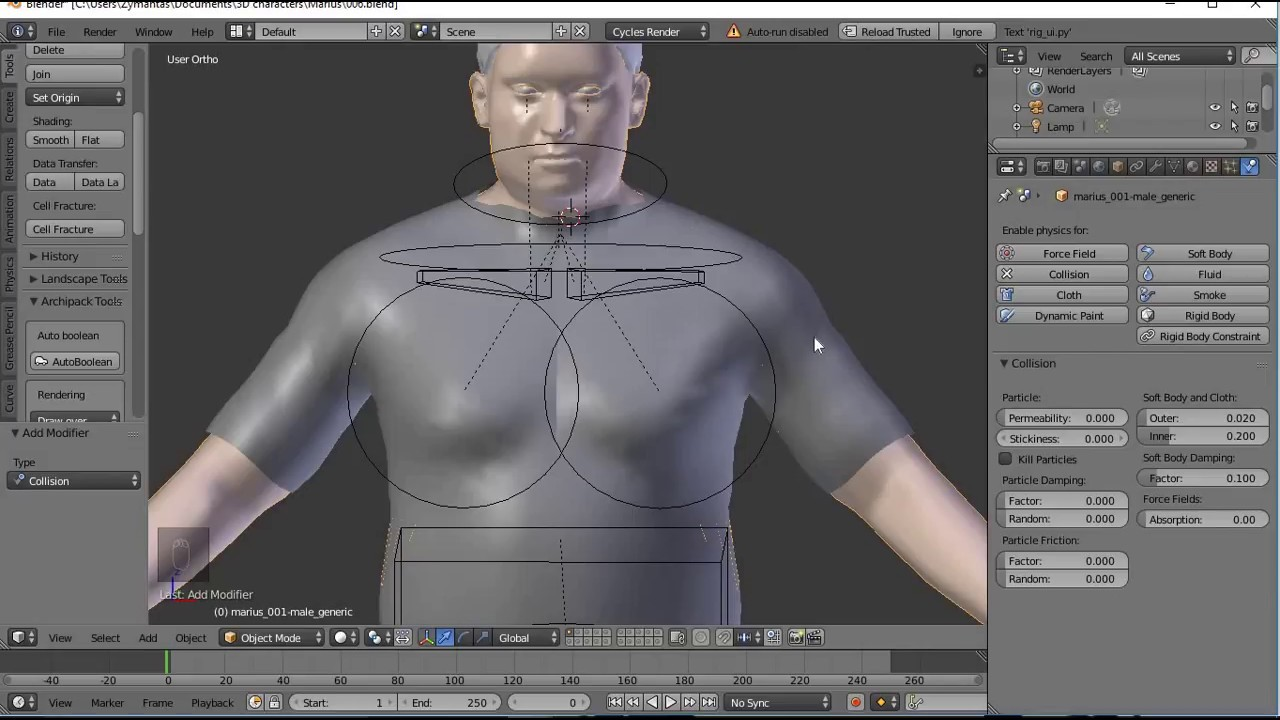 Modeling how should clothes be modified to fit a character model.