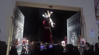 Viacrucis Nazareno del Perdón por interior colegio Gamarra. Málaga, 1 marzo 2017 (4)