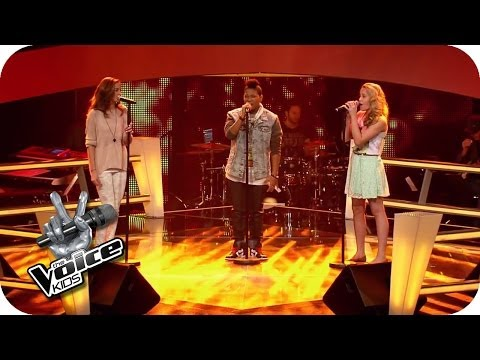 John Mayer  Free Fallin Sarah, Jamica, Nadine  The Voice Kids 2014  BATTLE  SAT1