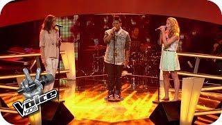 John Mayer - Free Fallin' (Sarah, Jamica, Nadine) | The Voice Kids 2014 | BATTLE | SAT.1