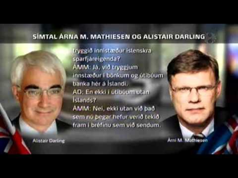 Samskipti Árna Mathiesen og Alisdairs Darling