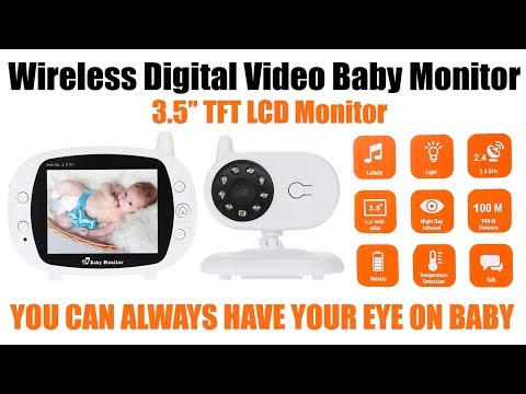 "review-of-3.5""-wireless-digital-hd-video-camera-baby-monitor-temperature-monitor-nightvision-lullaby"