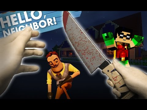 Minecraft Realistic : Hello Neighbor - Stabbing Mr Wilson With a KNIFE???