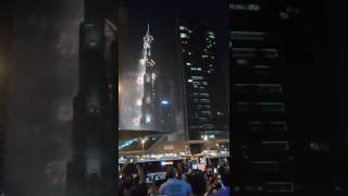 Firework dubai from dubai mall metro huge crowd 2nd part