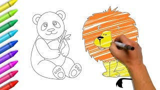 Drawing & Painting For Kids | Animals Coloring Pages Collection | Colors For Children by Color World