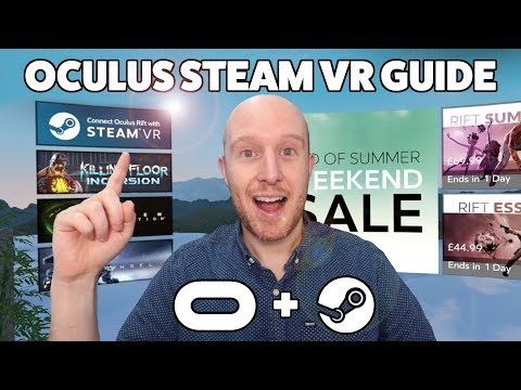 How To Setup Steam VR on Oculus Rift & Link Oculus To Steam VR & New Oculus Tray Tool Features!!