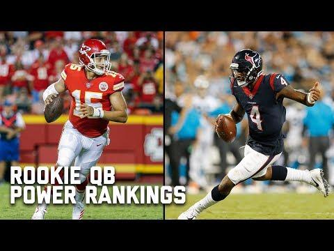 Rookie Quarterback Power Rankings | Good Morning Football | NFL Network