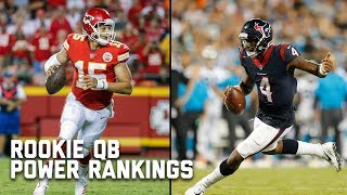 Rookie Quarterback Power Rankings | Good Morning Football | NFL Network