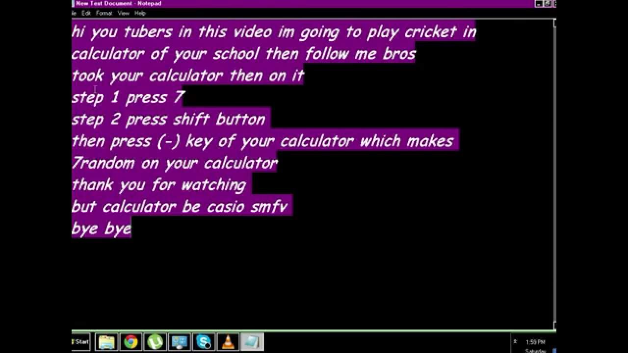 How To Play Cricket On Calculator Mean & Standard Deviation