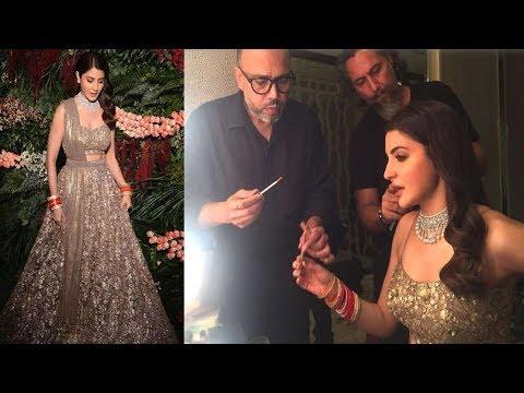 reception के लिए ऐसे तैयार हुईं Anushka Sharma, पहनी सितारों से जड़ी लहंगा-चोली