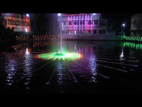RGB Pixel lighting on water  30 . Ghatal , Paschim Medinipur , West Bengal , India .