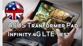 transformer Pad Infinity TF700KL 4G LTE Speed Test on Vodafone's German Network