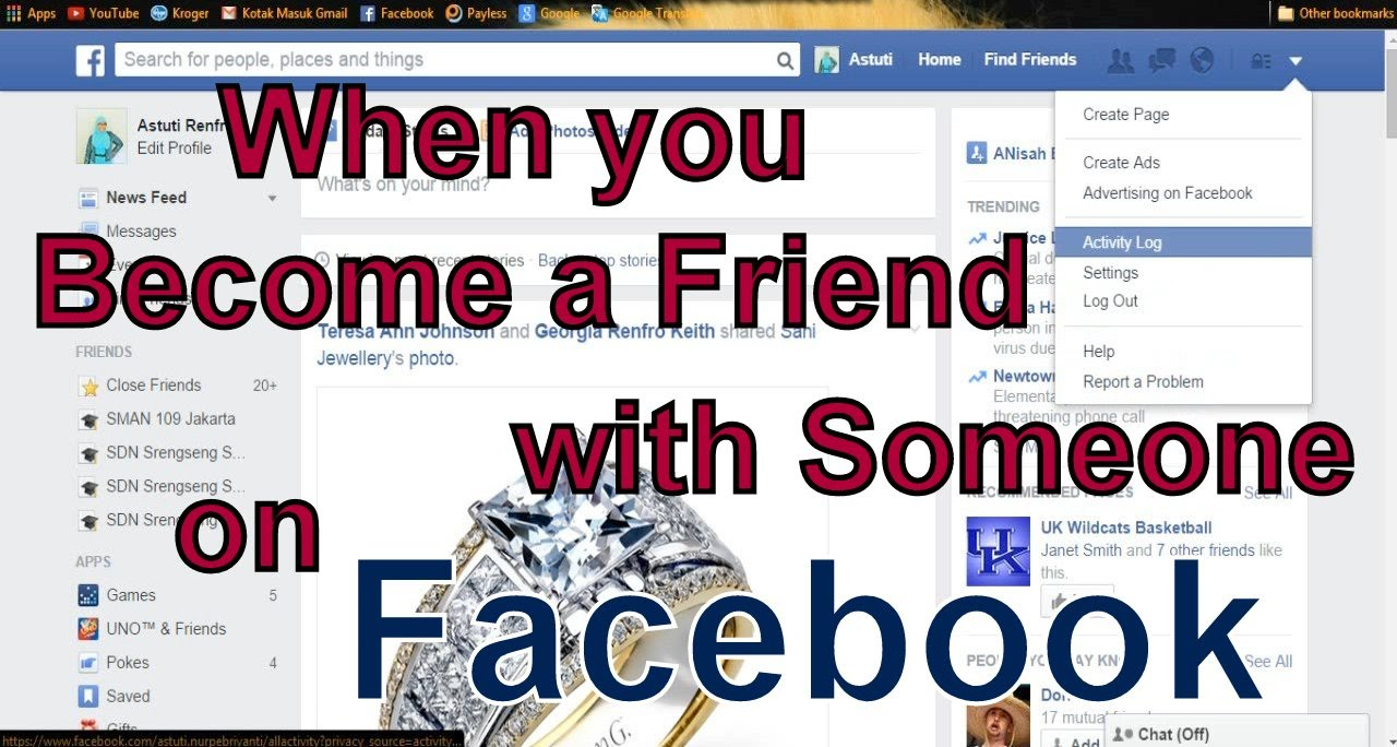 Find facebook friends using photo