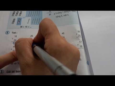 Toán lớp 2- Bảng cộng 6 – 26+5=?; 36+15=?- 6 cộng với một số.