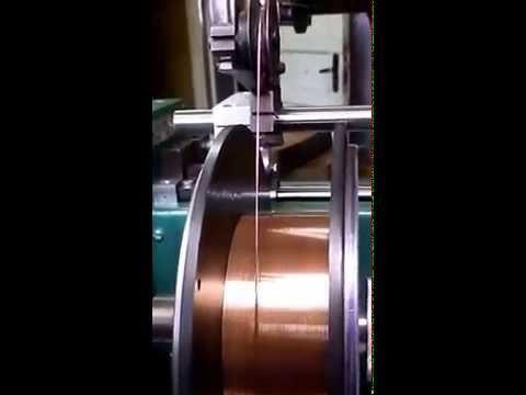 видео: Намотка сварочной проволоки на станке СУН-1,8МЛР